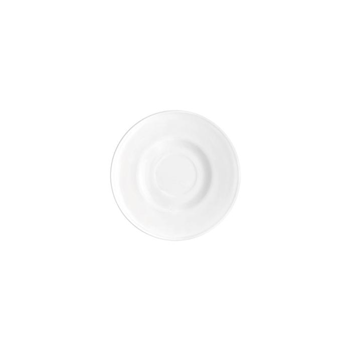 Piatto per tazza cappuccino Icon Bormioli Rocco in vetro bianco cm 14,5