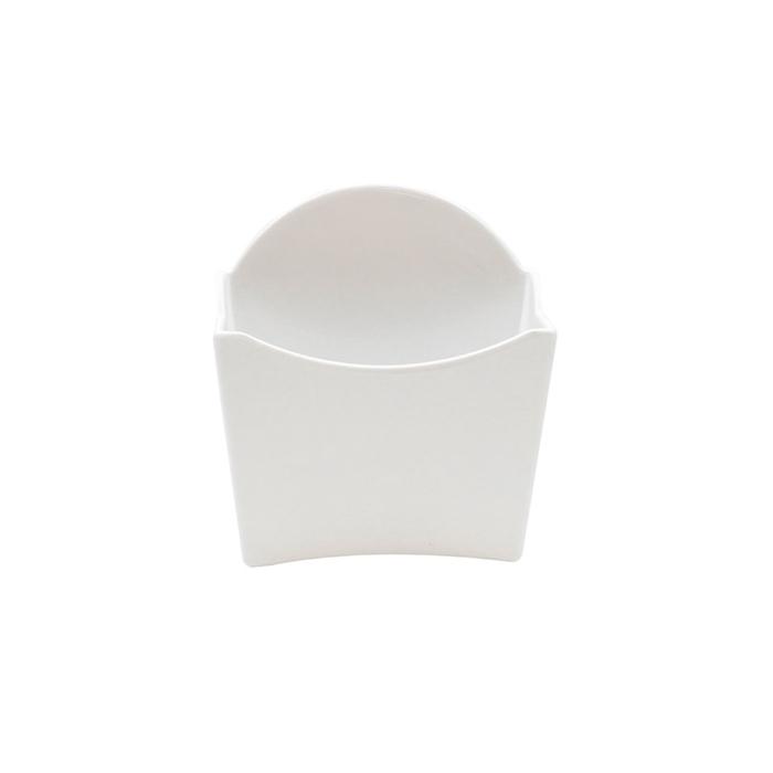 Contenitore patatine in melamina bianca cm 12x5
