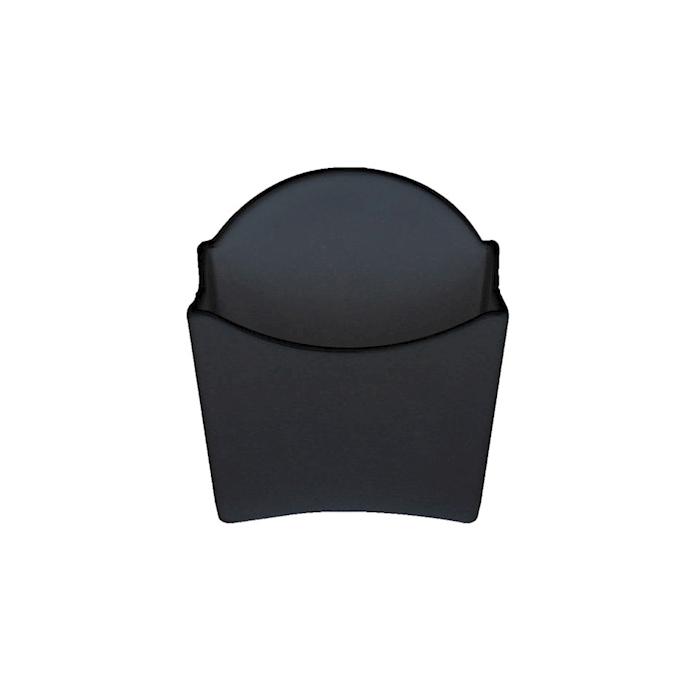 Contenitore patatine in melamina nera cm 12x5