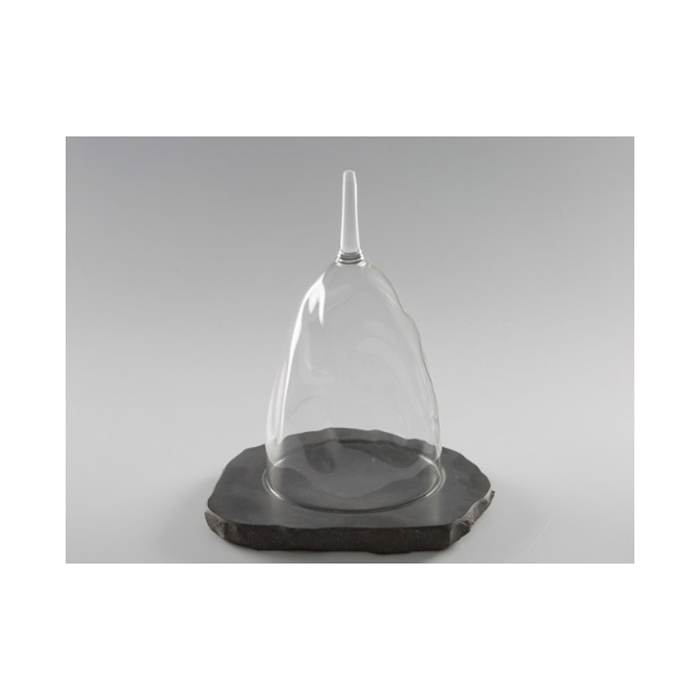 Piatto Apicius 100% Chef in pietra nera cm 22