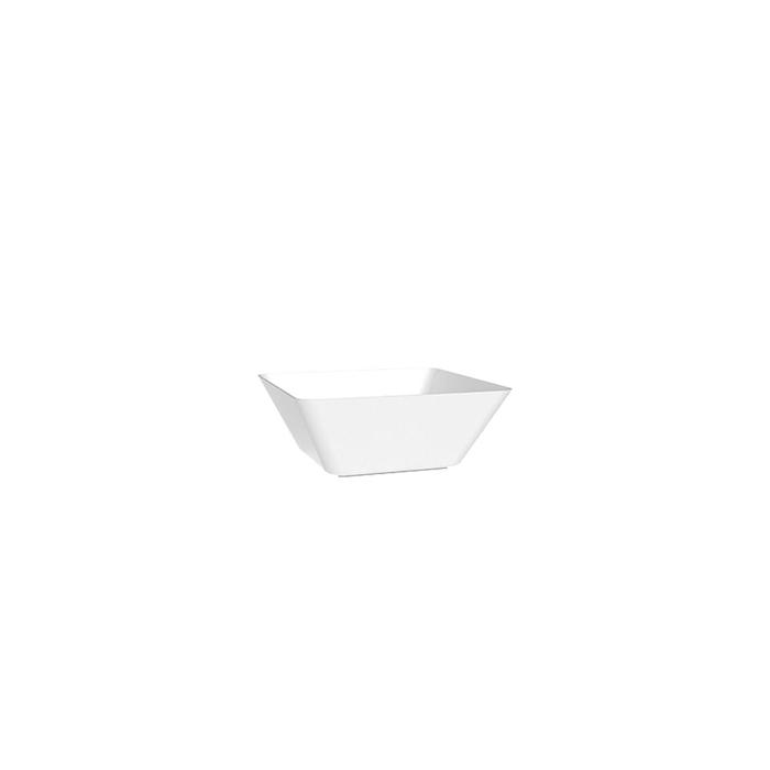 Coppetta Space 5 in polistirene bianco cm 13,5x13,5x4