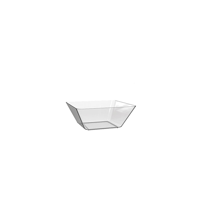 Coppetta Space 5 in polistirene trasparente cm 13,5x13,5x4