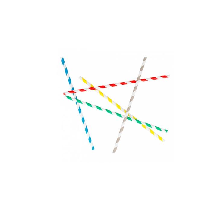 Cannucce pieghevoli in carta decoro a spirale colori assortiti cm 23x0,6