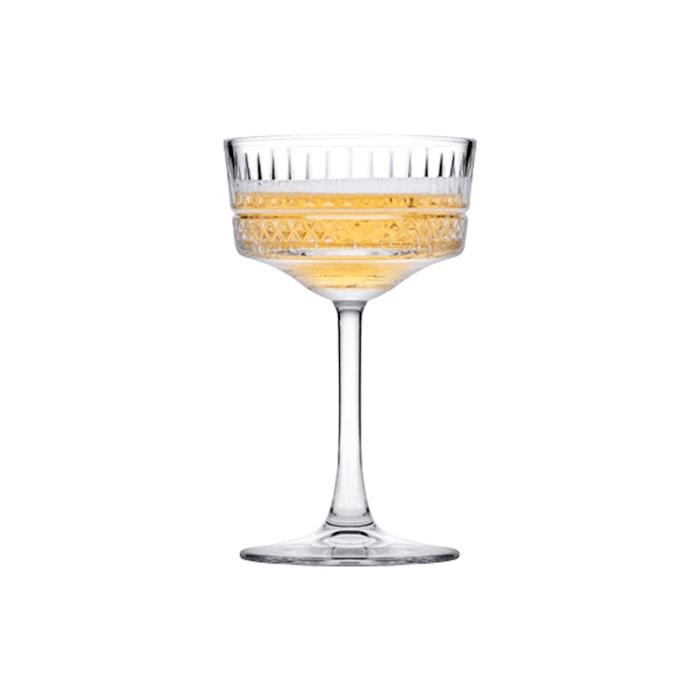 Coppa champagne Elysia in vetro decorato cl 26