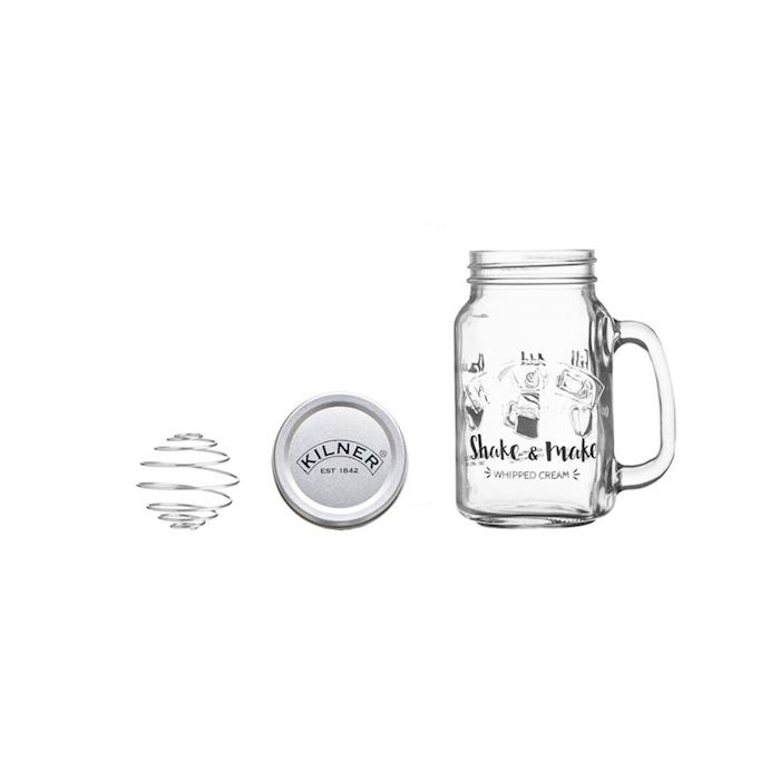 Barattolo Milk  Shake Kilner in vetro con tappo in alluminio e molla in acciaio cl 54