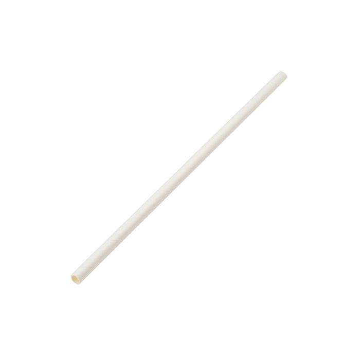 Cannucce in carta biodegradabile bianca cm 20x0,6