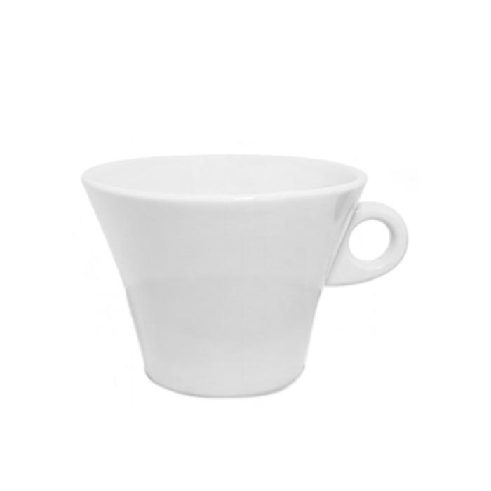 Maxi tazza portabustine con piatto Lamego in porcellana bianca lt 1