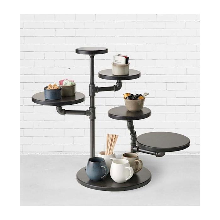 Espositore buffet Creations Steelite con 5 ripiani in legno cm 60x35,5