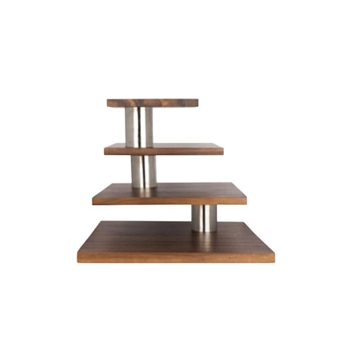 Espositore buffet Creations Steelite con 4 ripiani in legno cm 39,5x46