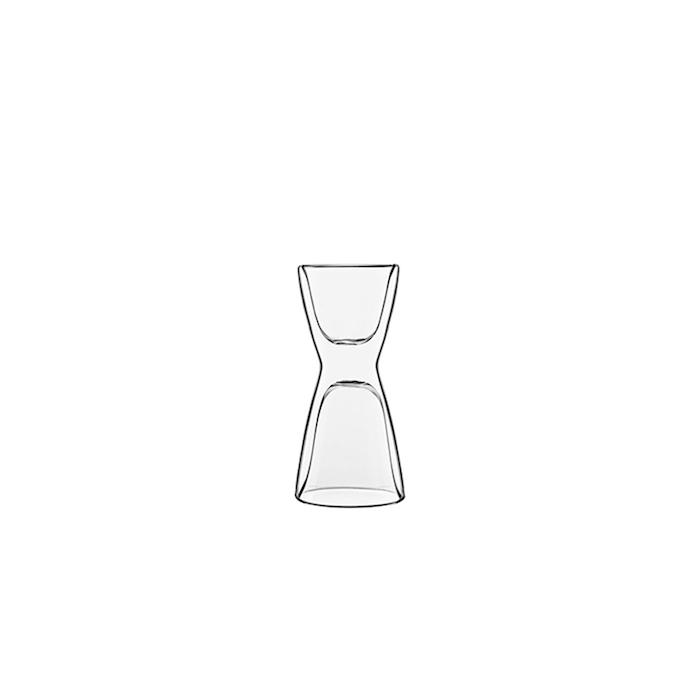 Jigger bicchiere caffè Unico termico Luigi Bormioli in vetro cl 6,5-10