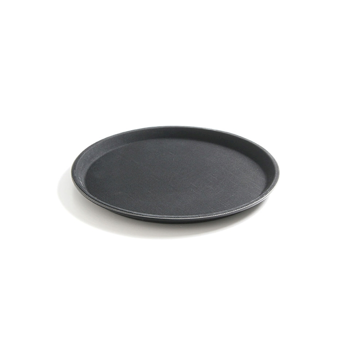 Vassoio tondo antiscivolo rinforzato con fibra di vetro nero cm 35