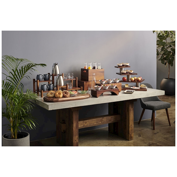 Espositore buffet 6 piani Creations Steelite in legno d'acacia cm 71x35x32