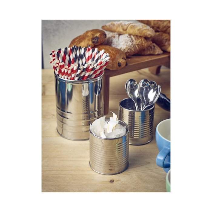 Barattolo tin can cup in acciaio inox cl 41