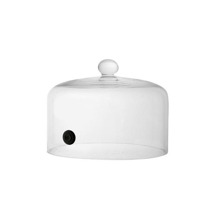 Cupola per affumicatore con valvola in vetro cm 20,5x20