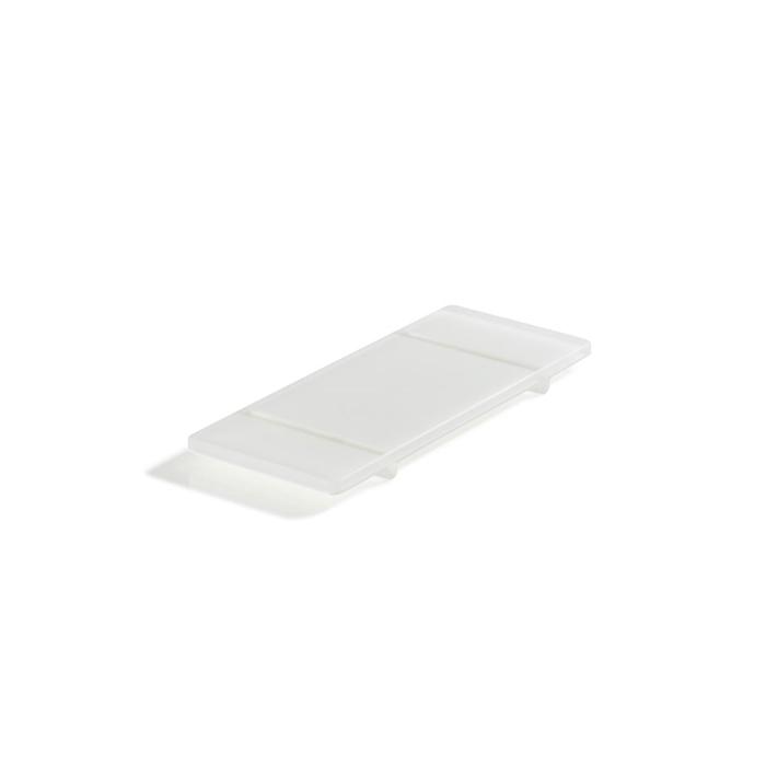 Vassoio rettangolare con piedini Mealplak in Nacryl® bianco cm 24,5x10x1,5