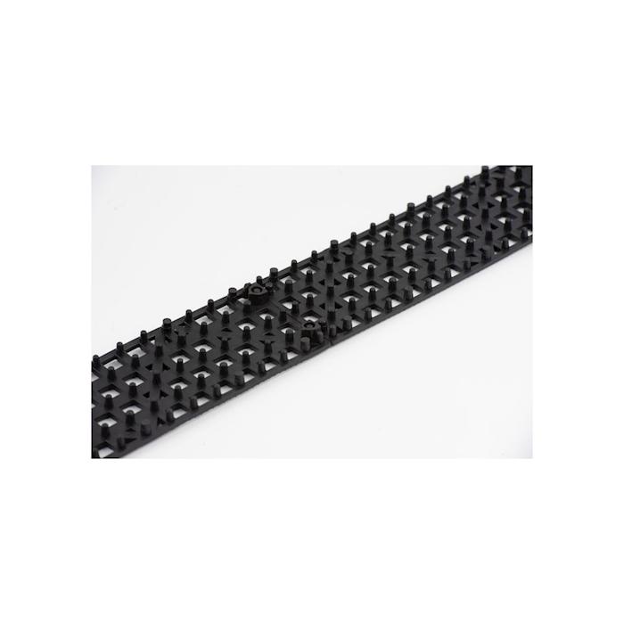 Versa mat strips componibile in plastica nera cm 31x9