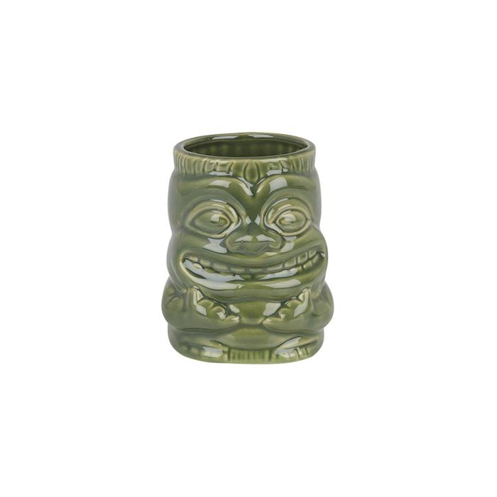 Tiki mug Sea con manico in ceramica verde 42,5