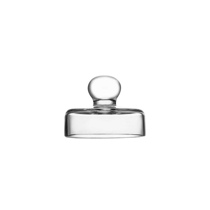 Calice Amber Glass whisky con coperchio in vetro cl 10
