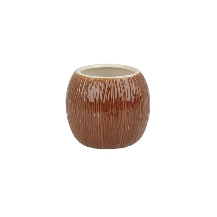 Tiki mug Cocco in ceramica marrone cl 63