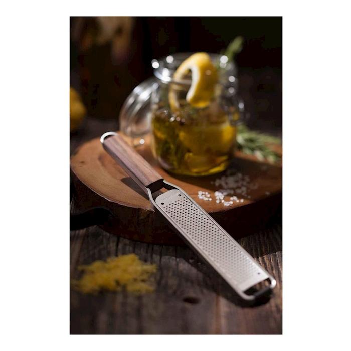 Set 2 grattugie Master Microplane in acciaio inox e manico in legno