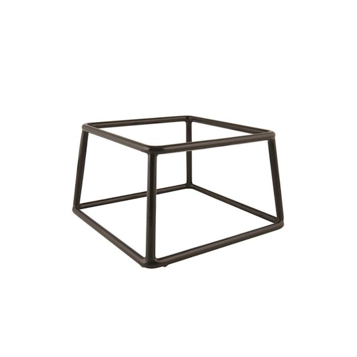 Alzata quadra in acciaio e pvc cm 18