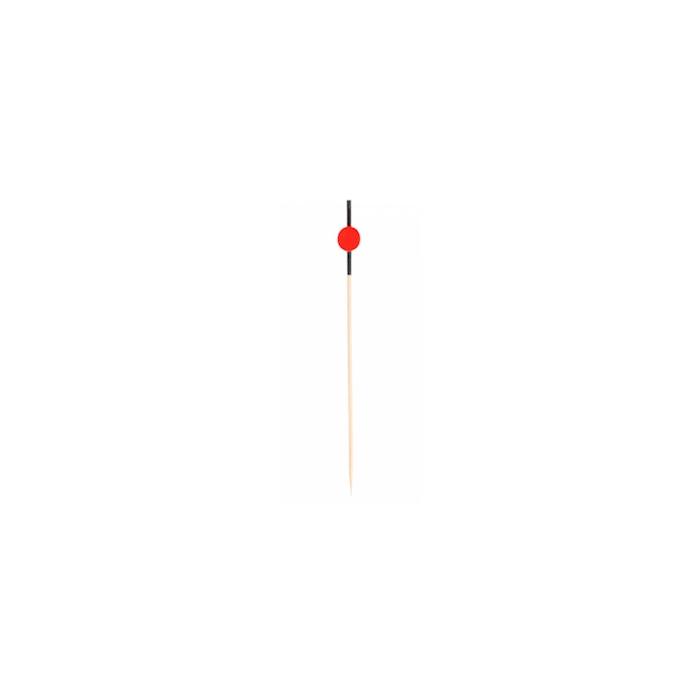 Stecchini monouso in bamboo rosso e nero cm 12
