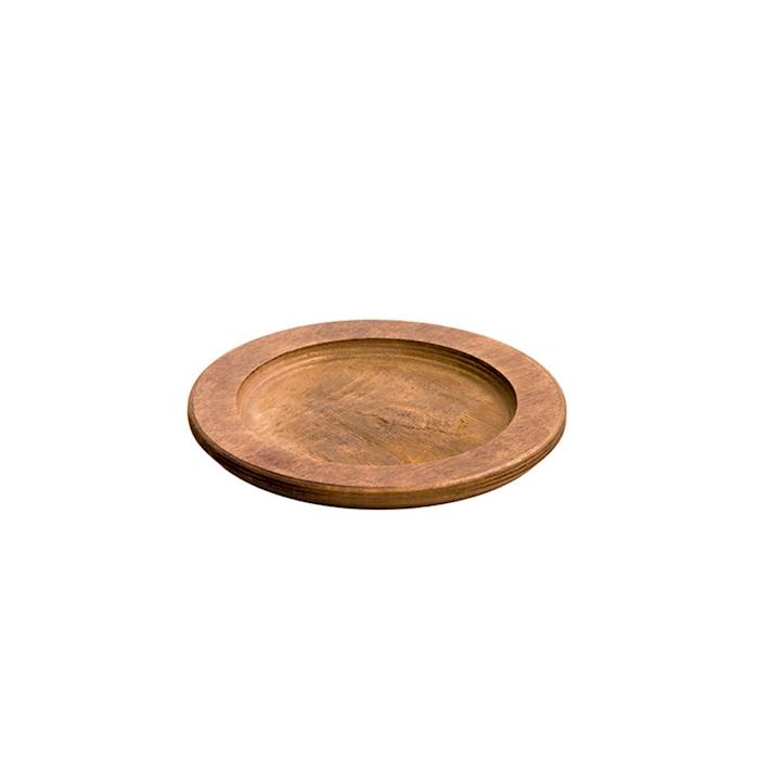 Sottopiatto tondo Lodge in legno naturale cm 24