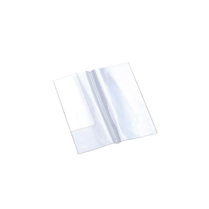 Busta per fogli menù midi in plastica trasparente