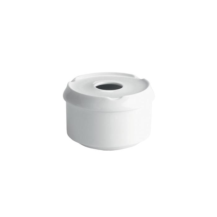 Posacenere Ventana in porcellana bianca cm 6,5x11,5