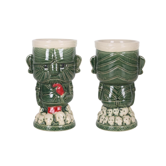 Tiki mug Lucky in porcellana verde cl 38
