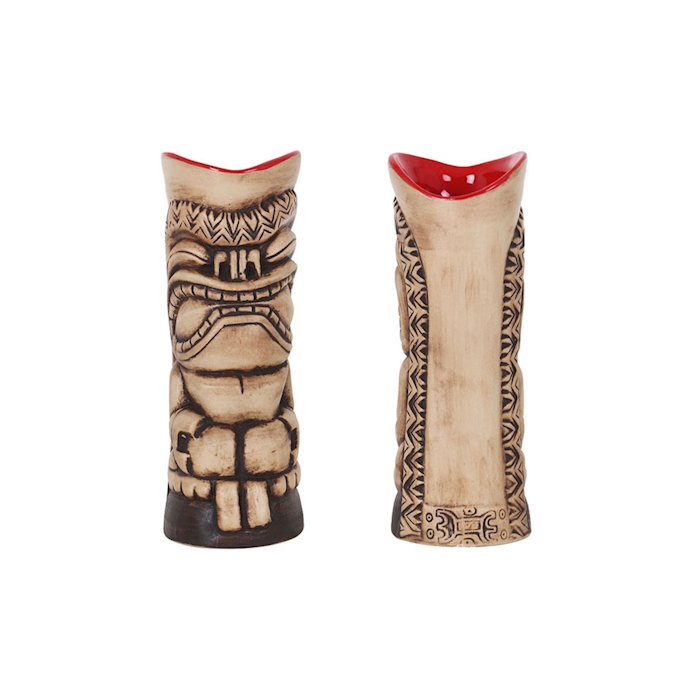 Tiki mug Hakuna in porcellana marrone cl 32