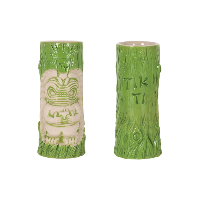 Tiki mug Aloha in porcellana verde cl 38