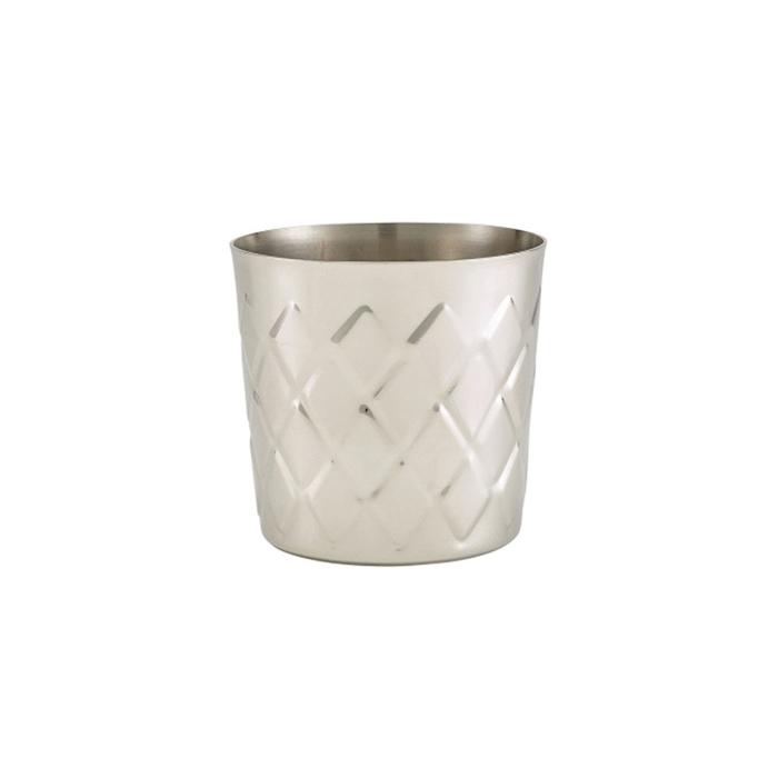 Bicchiere mug appetizer in acciaio inox diamantato cm 8,5x8,5