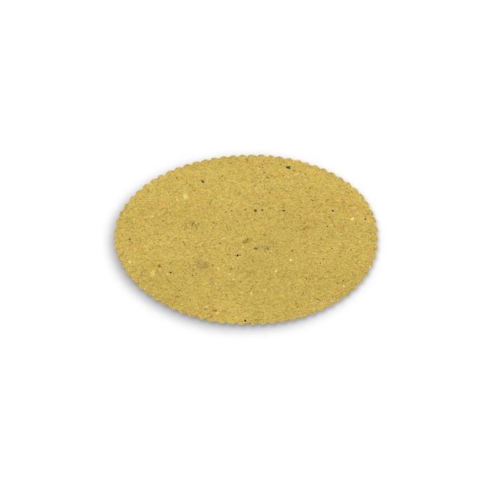 Sottofritto ovale in cartapaglia alimentare naturale cm 28x18