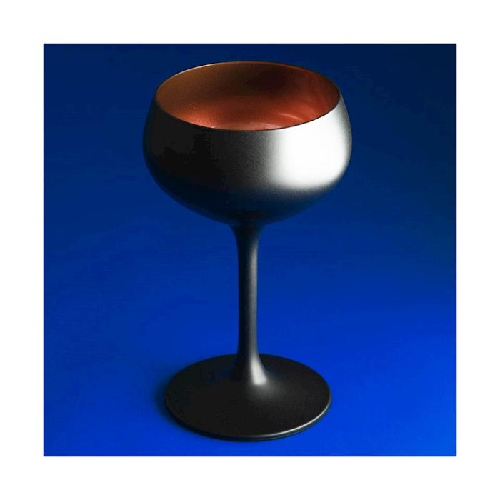 Coppa Retro coupe Urban Bar in vetro nero e bronzo cl 21