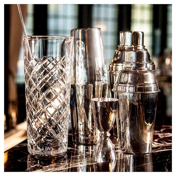 Shaker cobbler Classico Urban Bar in acciaio inox e argento cl 57
