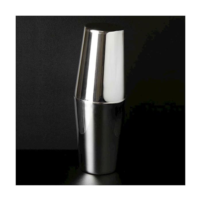 Shaker boston 2 pezzi Classico Urban Bar in acciaio inox e argento cl 57