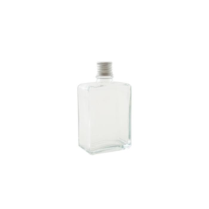 Bottiglia quadra in vetro con tappo cl 10