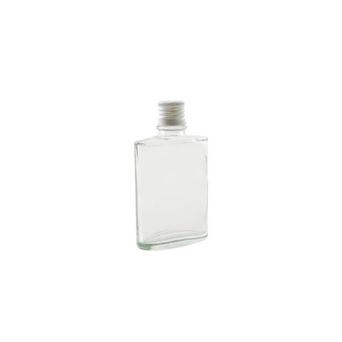 Bottiglia ovale in vetro con tappo cl 5