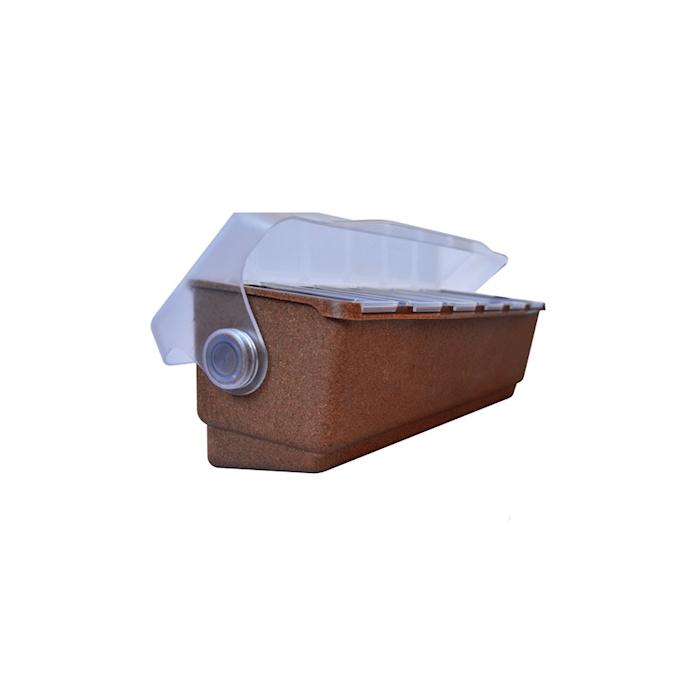Porta condimenti 6 vaschette in eco wood e abs
