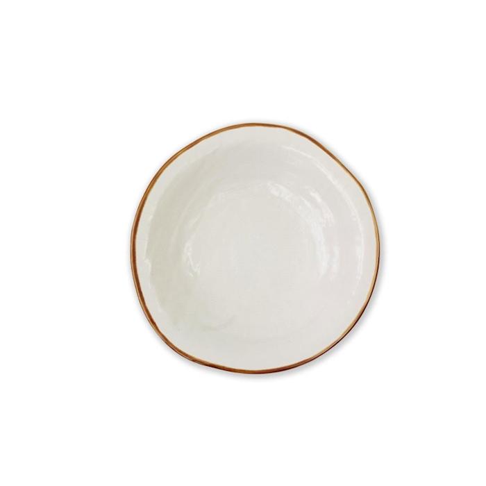 Piatto fondo Mediterraneo in ceramica bianco cm 24