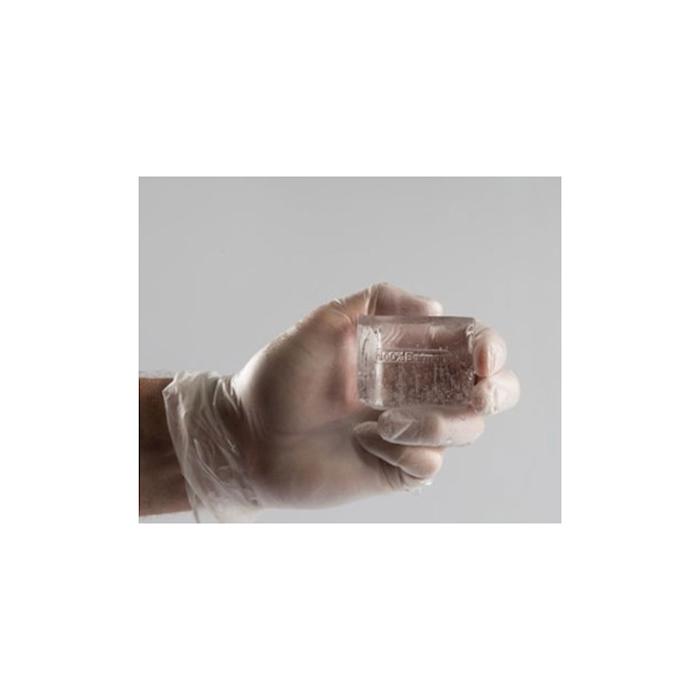 Marcatore per ghiaccio e alimenti personalizzabile in bronzo e manico in legno cm 10