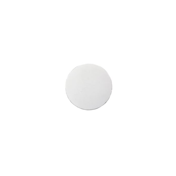 Sottobicchiere tondo in pelle rigenerata liscia bianca cm 10