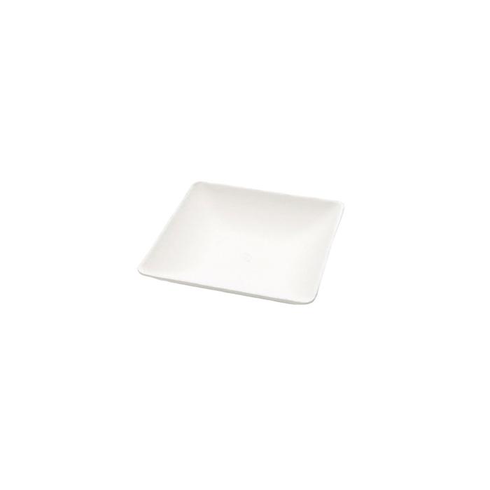 Piattino quadro biodegradabile in polpa di cellulosa cm 6,3