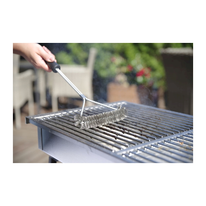 Spazzola grill Y Hendi in accaio inox cm 52x17