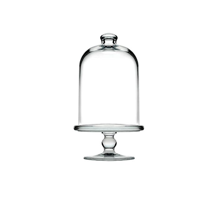 Alzata con cupola Patisserie Midi Pasabahce in vetro cm 10,5x23