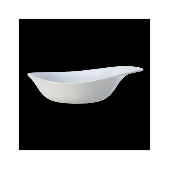 Piatto fondo Freestyle Performance Steelite in ceramica vetrificata bianca cm 25,5x20x5,5