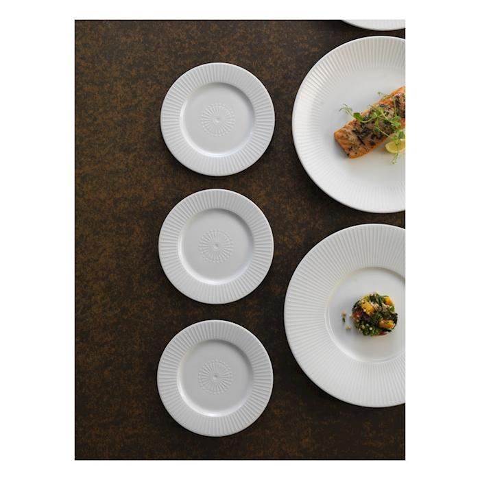Piatto piano Willow Distinction Steelite in ceramica vetrificata cm 28