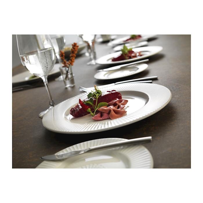 Piatto piano gourmet Willow Distinction Steelite in ceramica vetrificata cm 28,5
