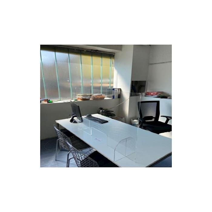 Barriera di sicurezza in plexiglass trasparente cm 99x59x0,5